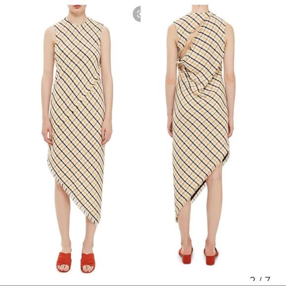 Topshop Dresses & Skirts - Topshop Gingham slash back asymmetrical dress